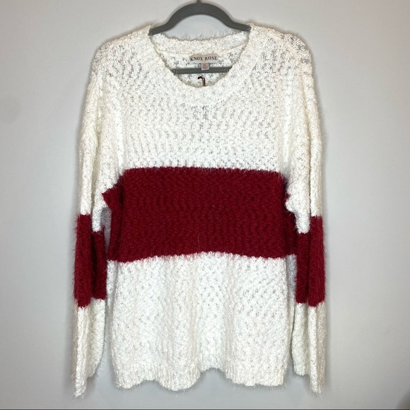 Knox Rose Target Striped Colorblock Sweater